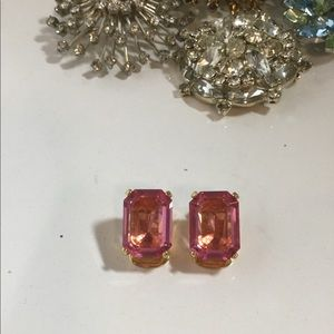 Vintage Christian Dior Pink Clip On Earrings